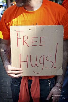 Amsterdam Queens Kings day free hugs