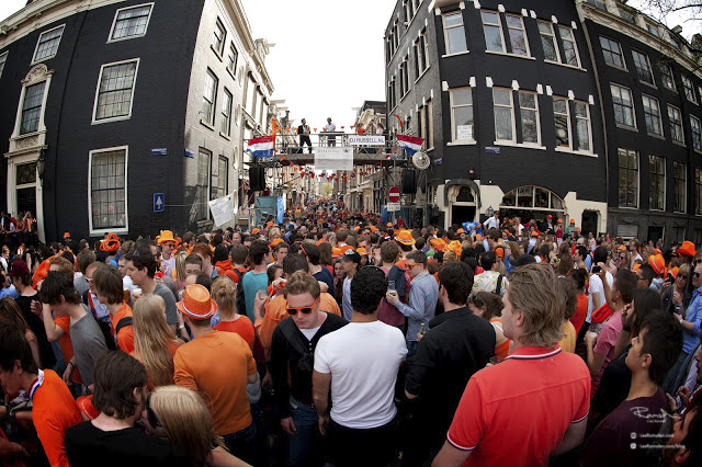 Amsterdam Queens Kings day street party