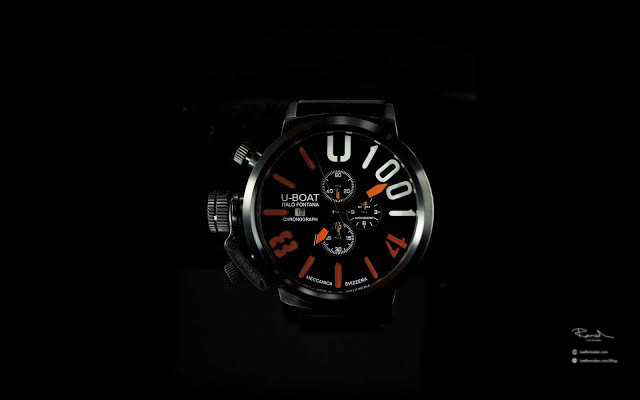 Product photography U boat watch professional high end