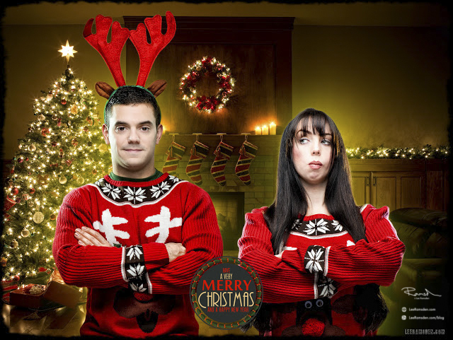 Christmas Jumpers funny composite image