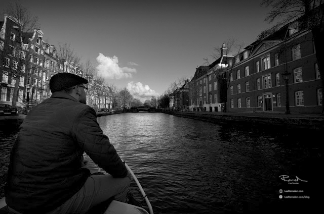 Amsterdam views by boat