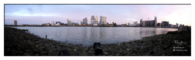 London river Thames canary wharf ponoramic iPhone photography