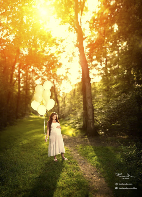 Pregnancy Pregnant Birth Sunset Balloons Woods Woodlands ryan brenizer technique stitched photoshop multi image Autopano Giga software