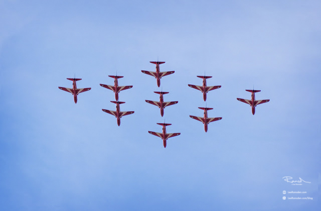 Red Arrows RAF Royal Air Force Air Show Photography Air Plane Aeroplane Red Blue