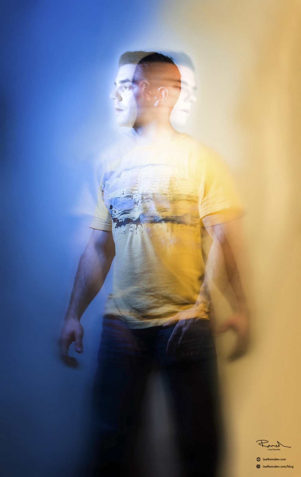 Double light exposure play time painting with light Lee Ramsden