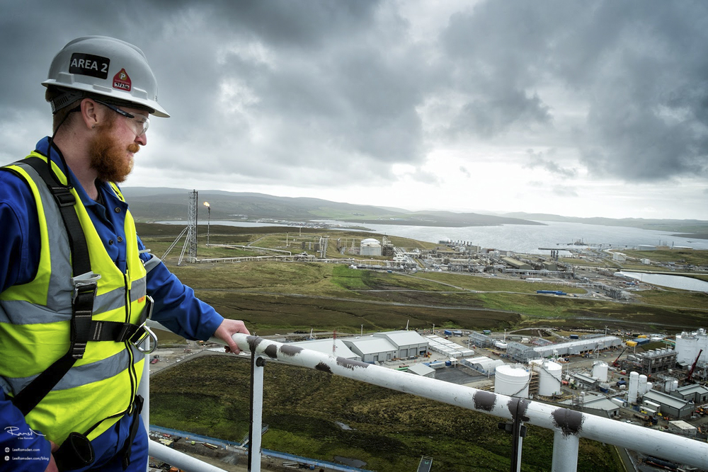 Shetland gas plant construction Sullom Voe Total Petrofac health and safety LTI employment union laggan tormore
