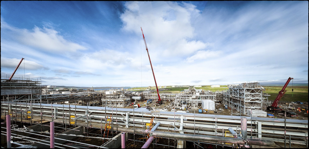 Shetland gas plant BP Sullom Voe Total Petrofac contractor health and safety laggan tormore