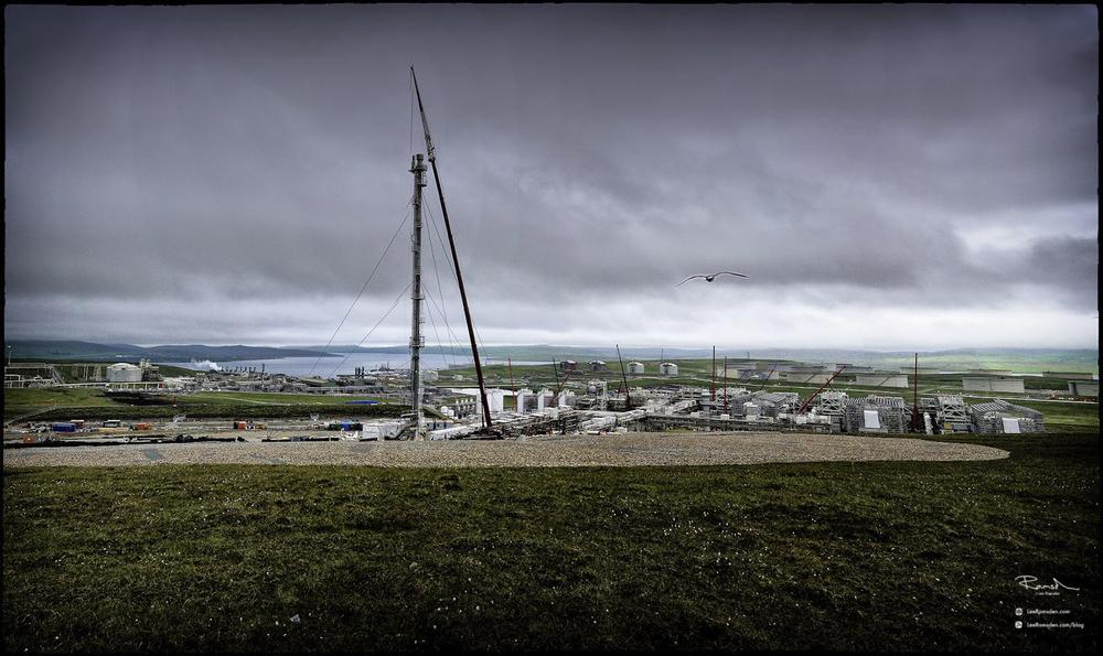 Shetland gas plant flare