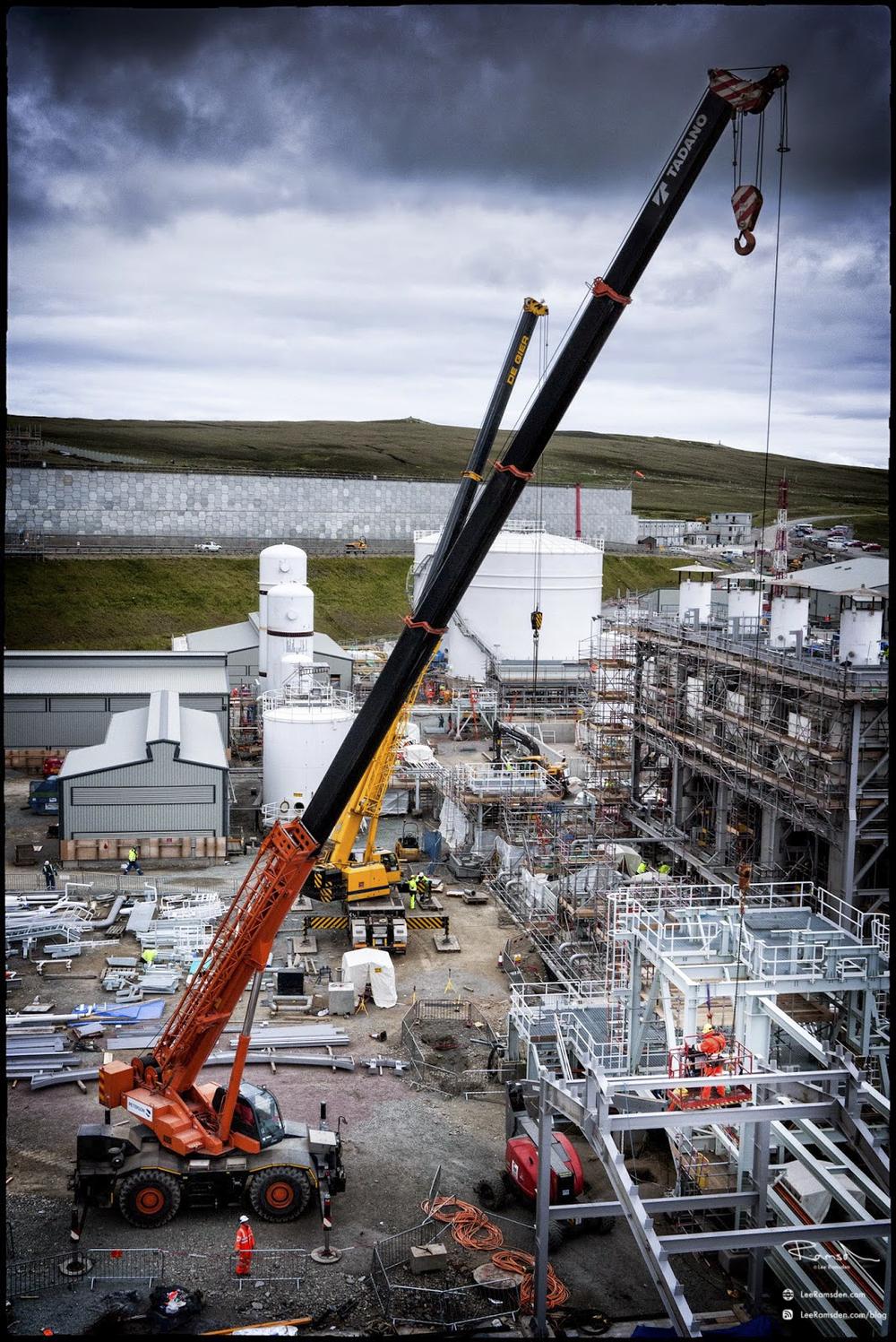 Shetland gas plant construction building laggan tormore crane