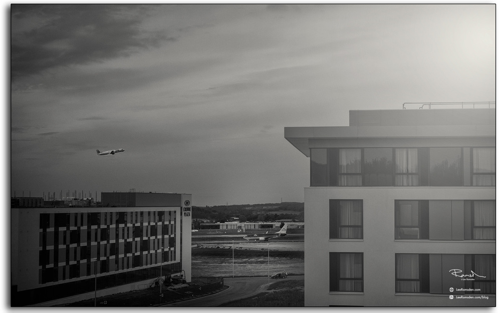 11 View from primier inn Aberdeen airport window airoplane close to the runway