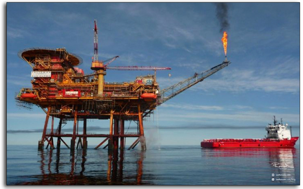 13 Talisman Auk north sea oil and gas platform