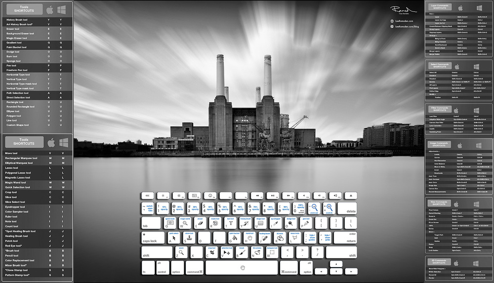London Battersea power station photoshop short cuts education help tutorial Lee Ramsden