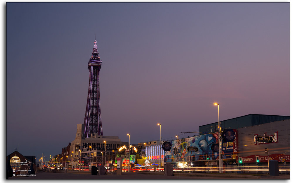 Blackpool Tower LED lighting dusk illuminations prom lights Landscape photographer Lee Ramsden