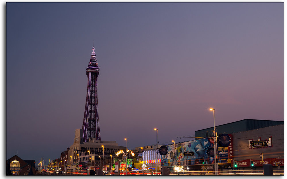 01 Blackpool Tower LED lighting dusk illuminations prom lights Landscape photographer Lee Ramsden.jpg