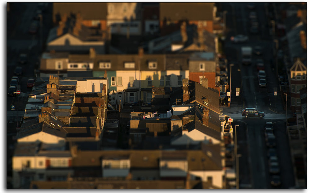10 Blackpool Fylde Lancashire taxi cab roof tops view from top of the Tower England abstract photography by Lee Ramsden.jpg