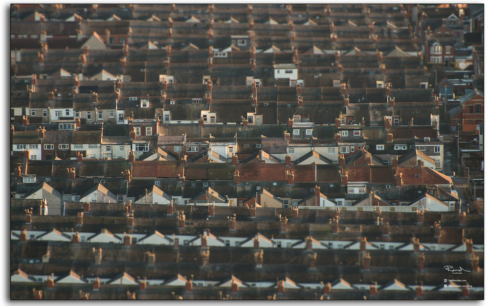 05 Blackpool Fylde Lancashire roof tops view from top of the Tower England abstract photography by Lee Ramsden