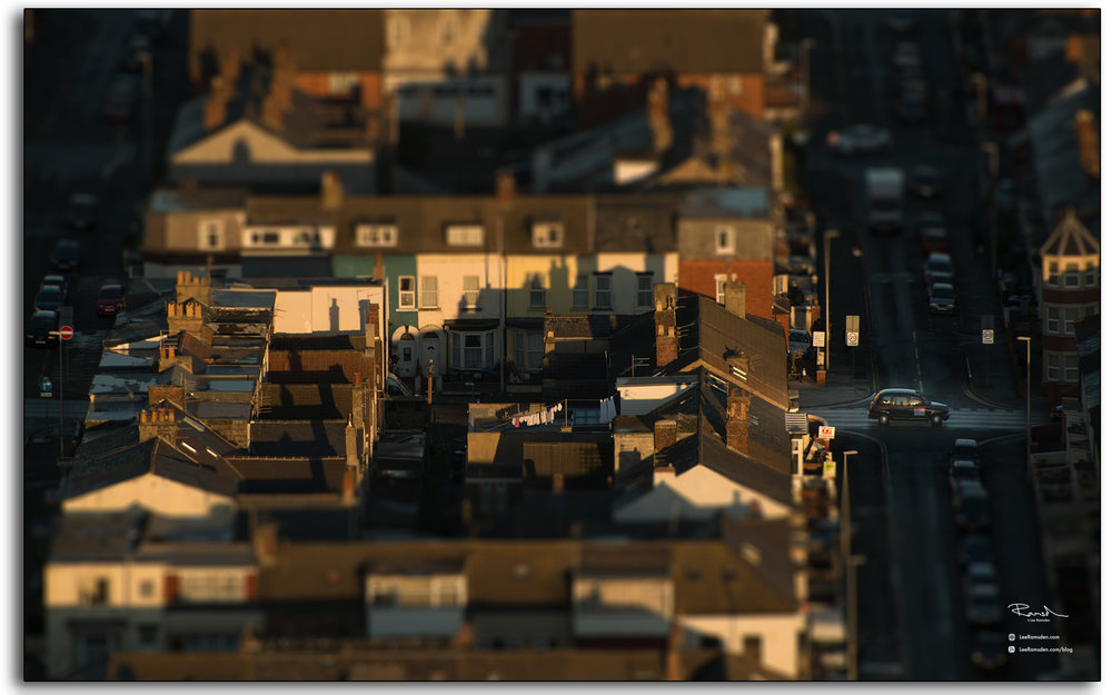 07 Blackpool Fylde Lancashire taxi cab roof tops view from top of the Tower England abstract photography by Lee Ramsden