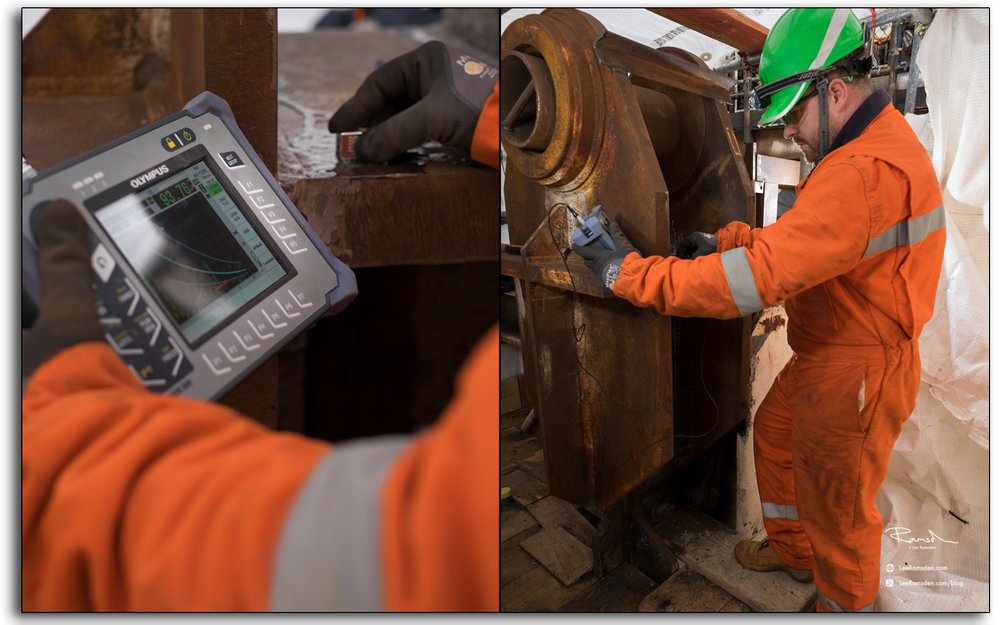 shaun clews, Offshore, NDT, NDE, testing, ultra sonics, weld thickness