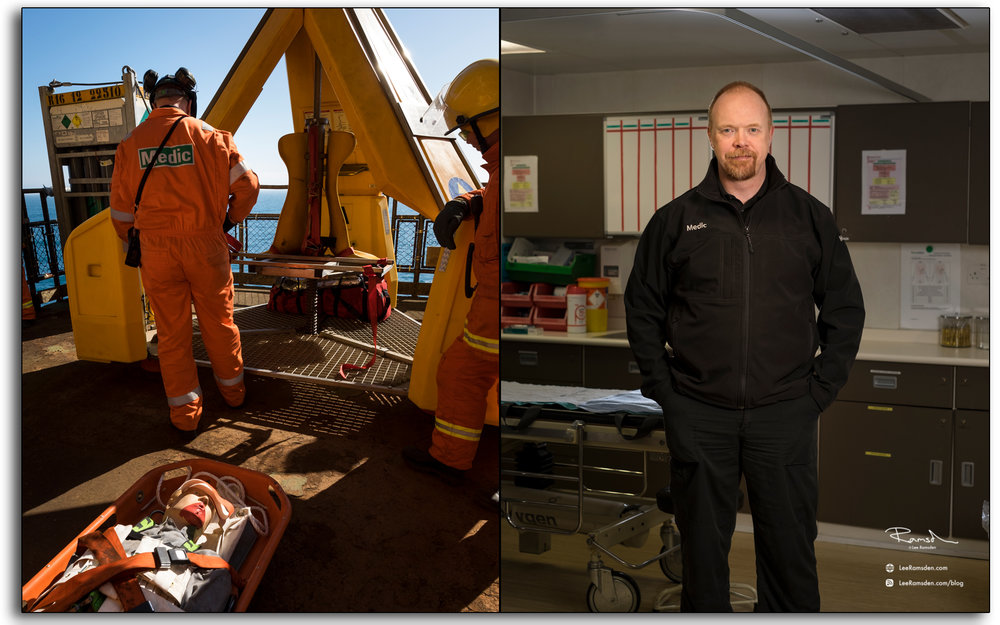 Medic, oil and gas industry, Andrew Macdonald, sickbay, medcenter, photo by Lee Ramsden,