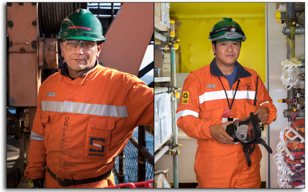 offshore, Saipem, north sea, BP Miller, decommissioning, store man, fitter, employees, workers, industrial photography, reportage, documentary, lee ramsden.jpg