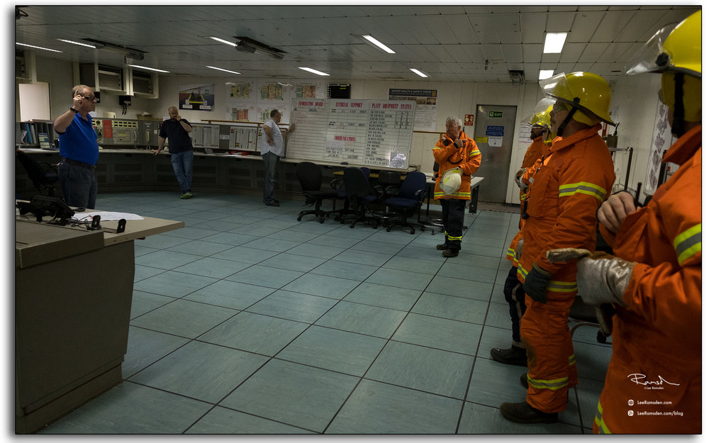 Emergency response, exercise, breifing, offshore,, oil and gas