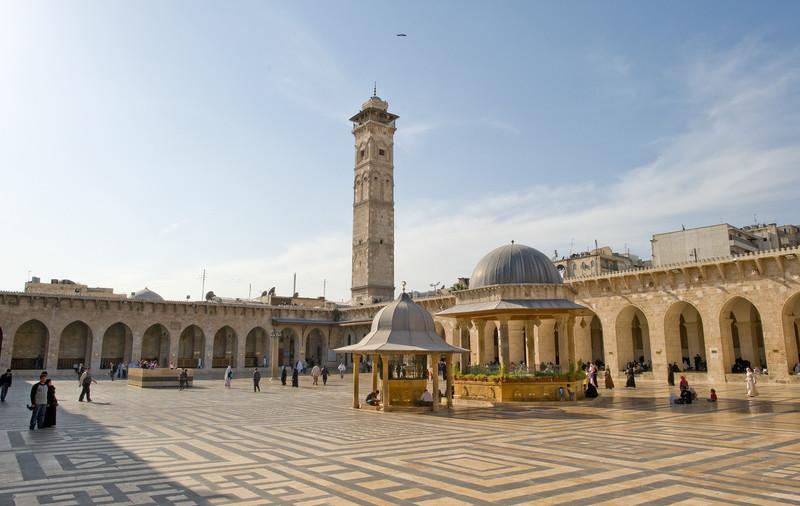 Aleppo-Umayyad (Great) Mosque, 2011. Credit: Ross Burns/Manar al-Athar