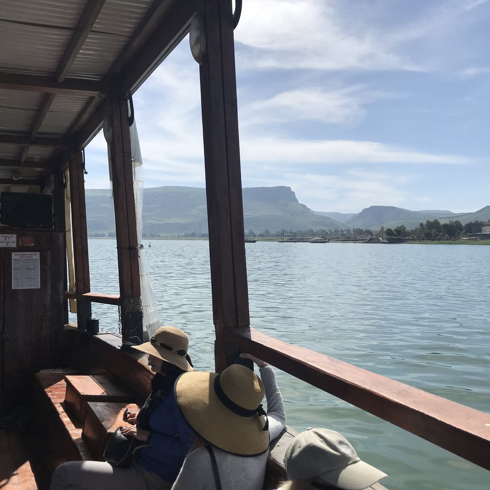 Our boat trip on the Sea of Galilee