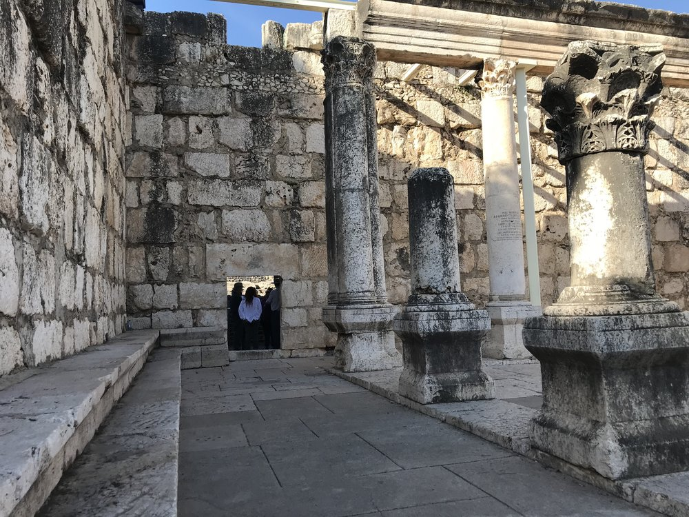 The 4th-century AD White Synagogue, Capernaum