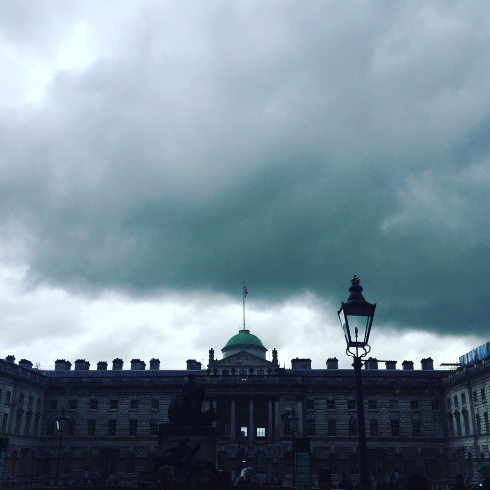 Sky Fall Somerset House, new LDF exhibition venue (in the rain)