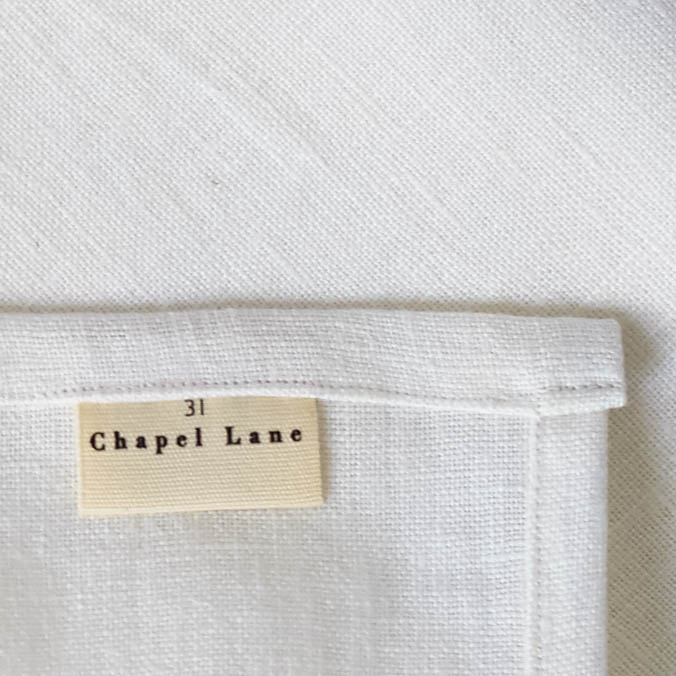 31 Chapel Lane Six Irish Linen Napkins - off white, £90