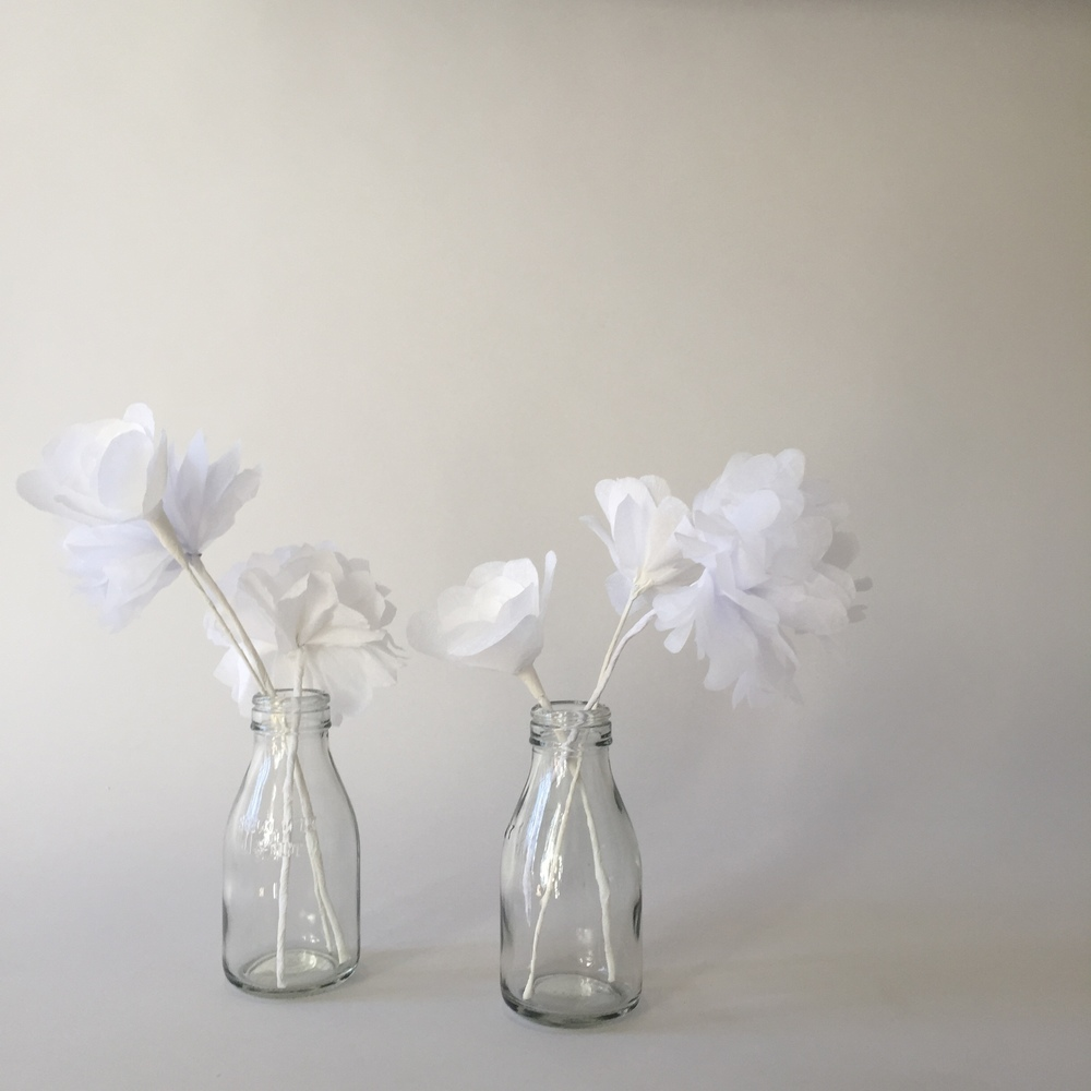 Paper flowers made by  Annabel Lam