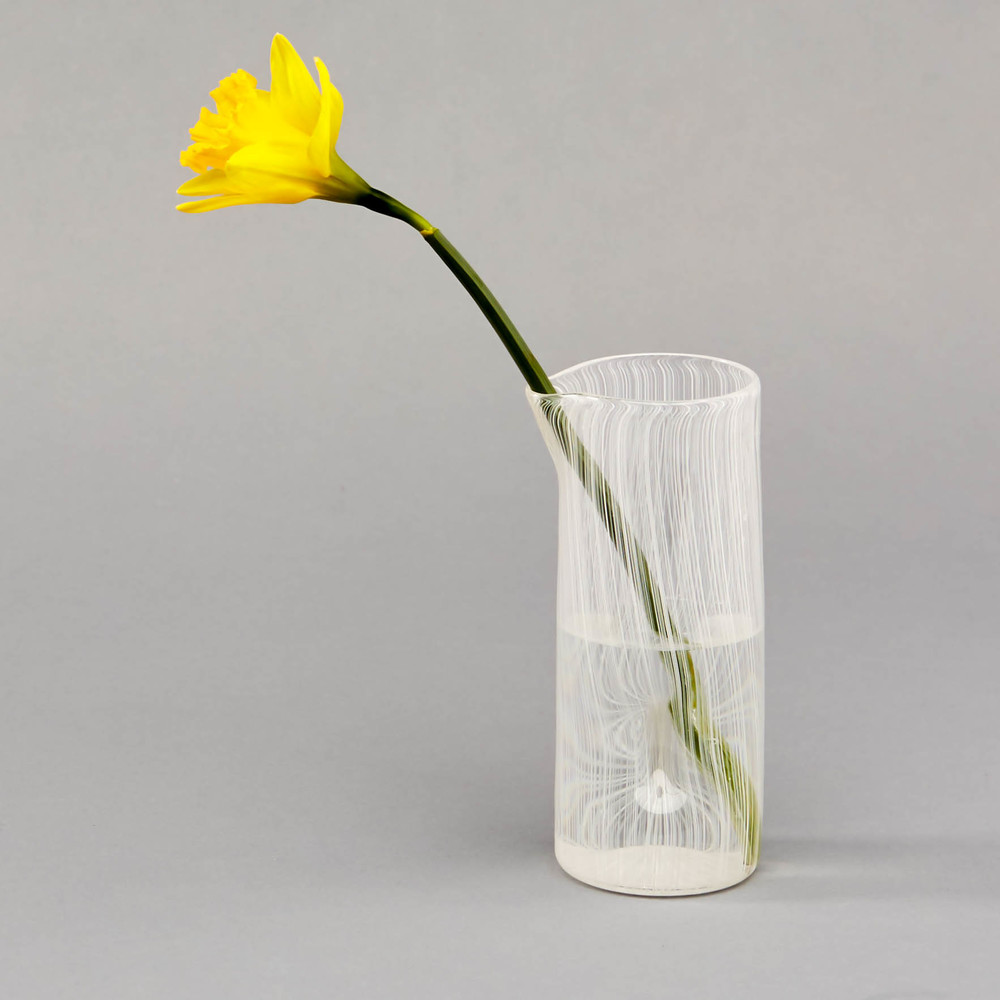 Cylinder: 'Thread' Handblown Glass Cylinder - small