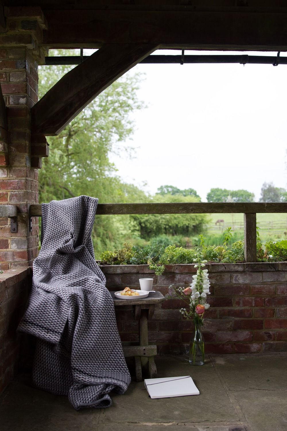 Protection for all seasons:  Quail's Egg Blanket  (pic & styling/ Emma Harris)