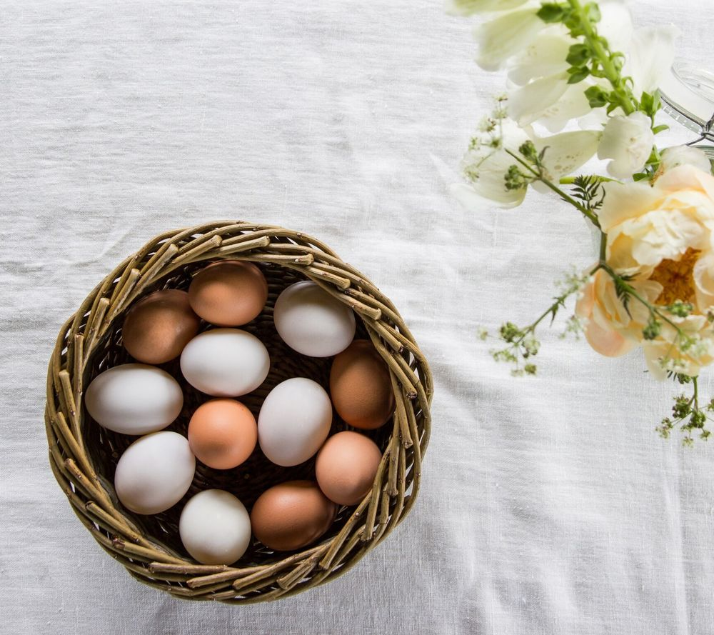 Complimentary tones: all eggs are in  The (Not Just For) Bread Basket  (pic & styling/ Emma Harris)
