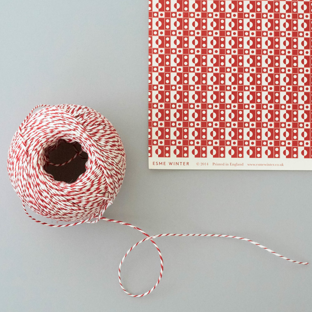 Esme Winter Pebble Patterned Gift Wrap - red.