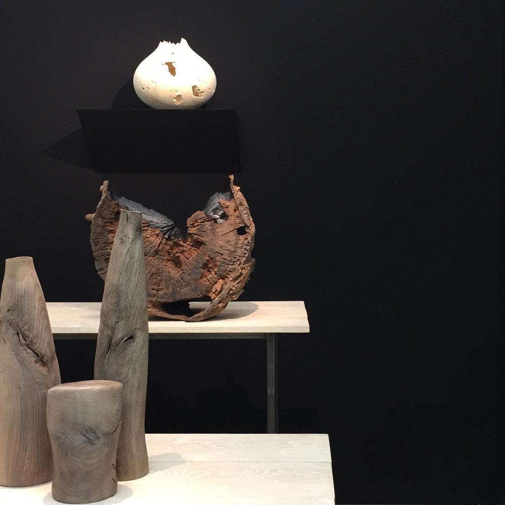 Eleanor Lakelin's piece balanced like a moon on the Sarah Myerscough stand