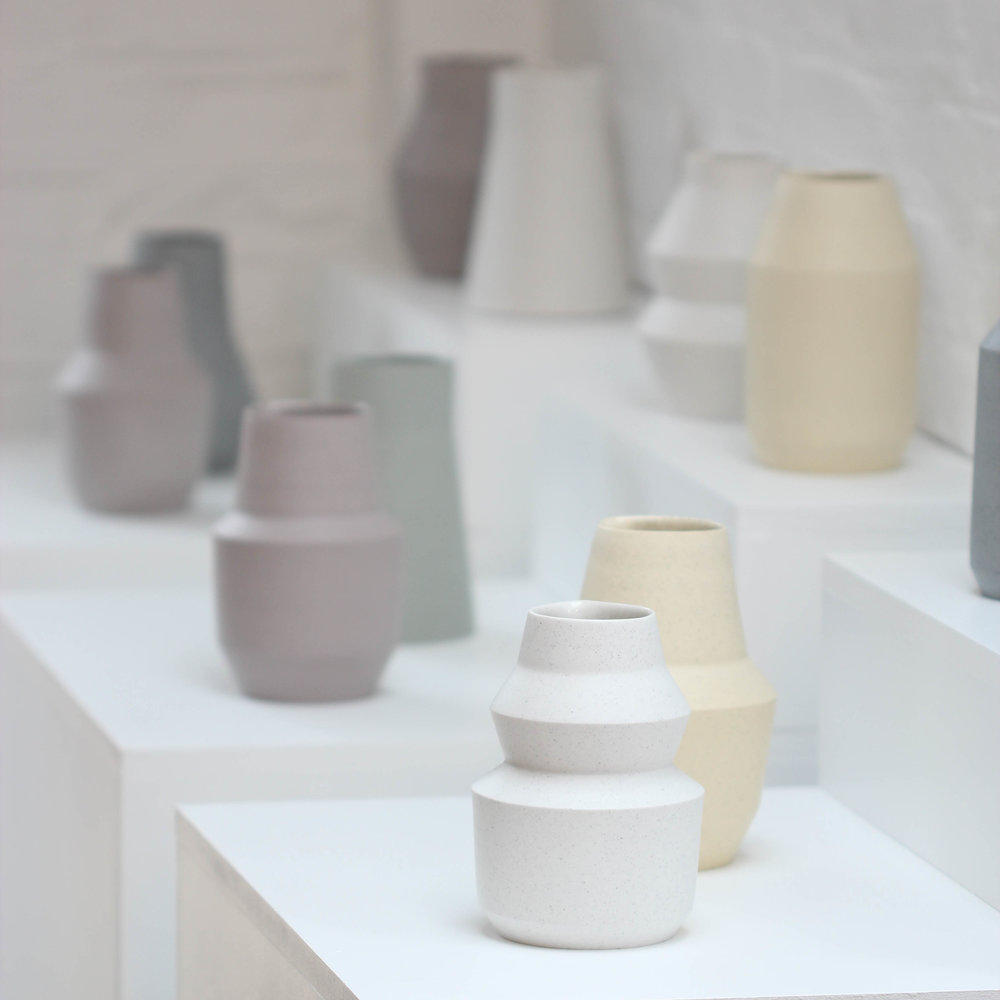 Porcelain Geometry: Elliott Denny; new forms for Stay Home exhibition (pic: Florian Gadsby)