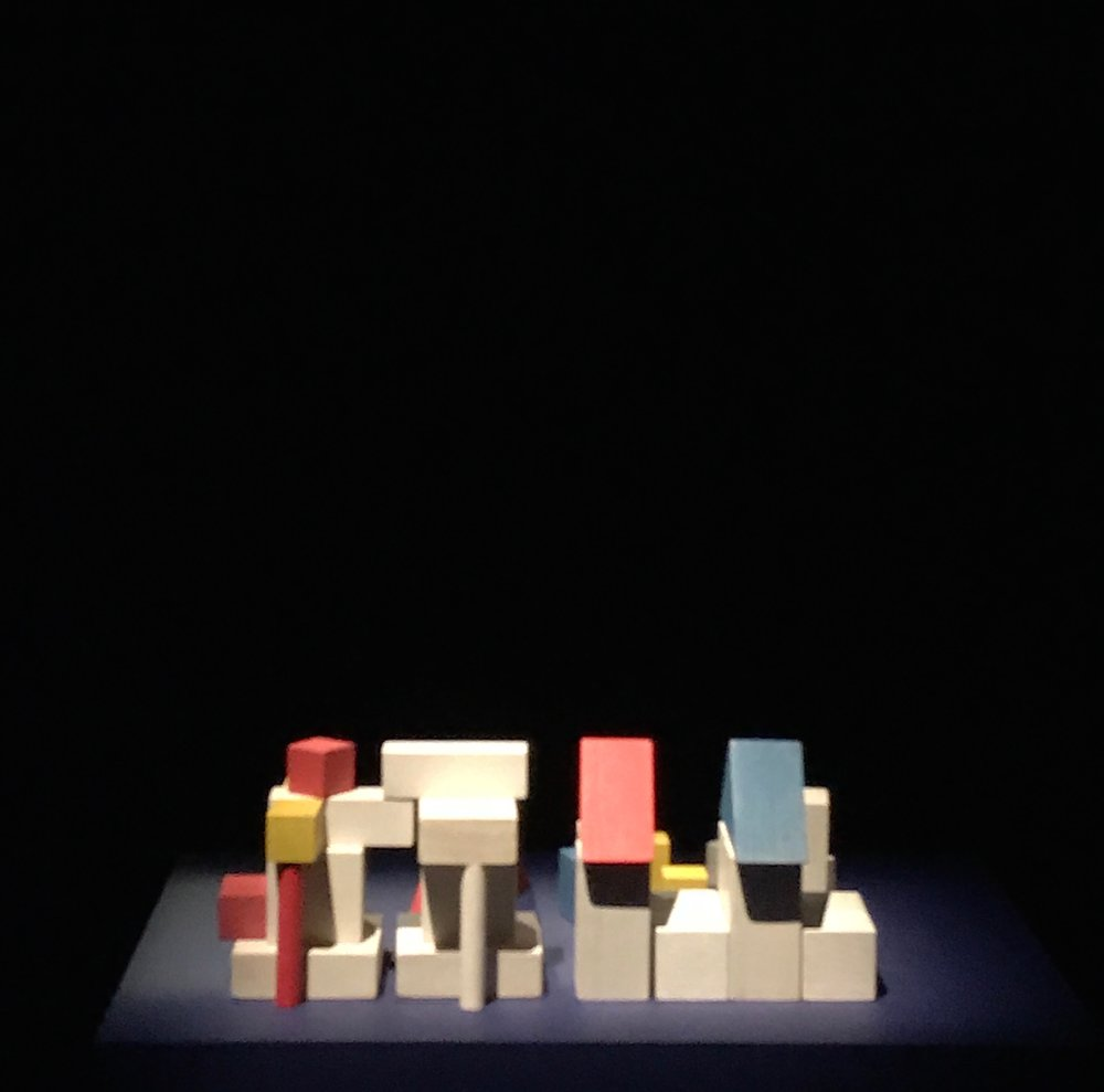 A truly terrible photo (I didn't have my tripod) of Takefumi Aida's playful Toy Block House (1978) pin-point lit in the 'Inhabiting the Experimental' gallery, a boundary-pushing reinterpretation of tradition.