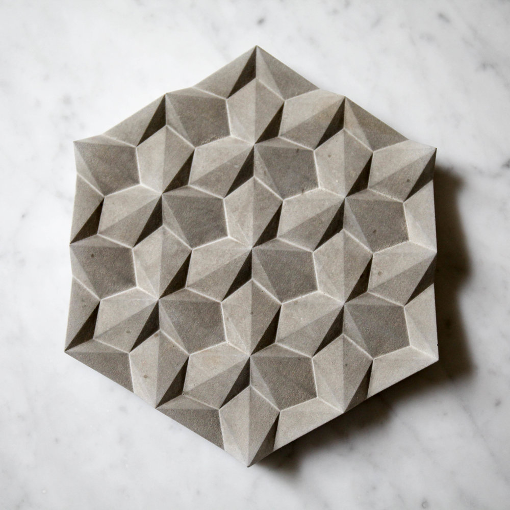 Joining the fold; brand new on the Simple Shape site the  Origami Concrete Trivet , £50