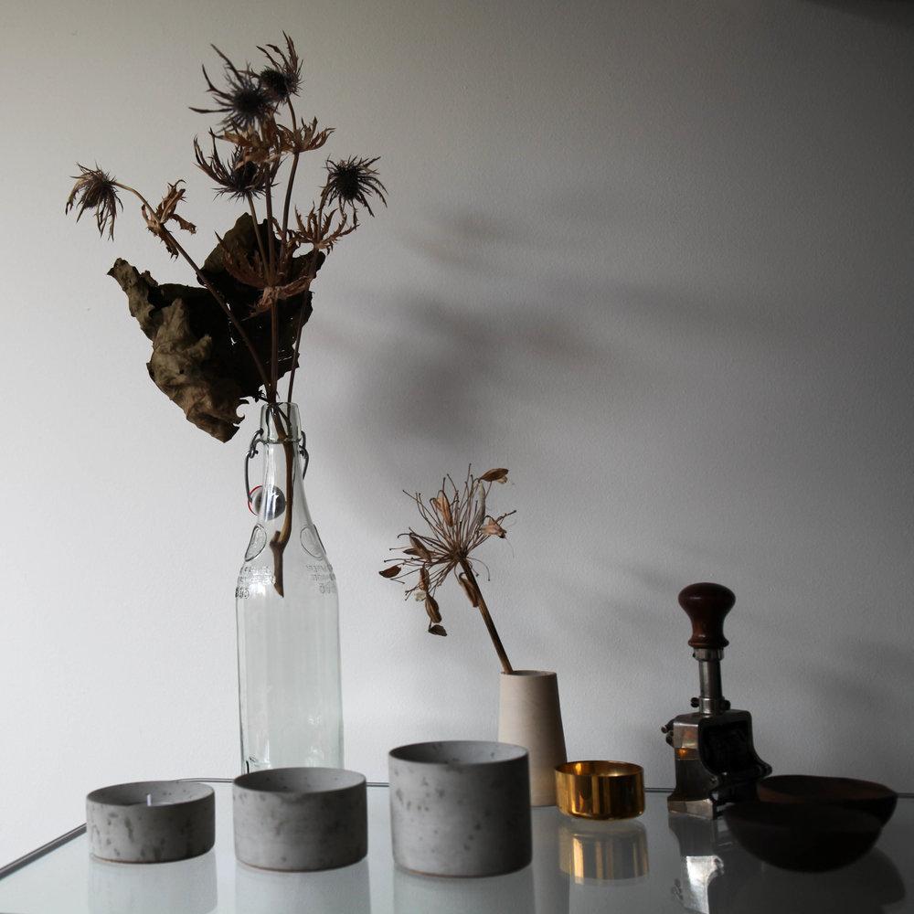 Concrete Tea Light Holders, set of 3, £60