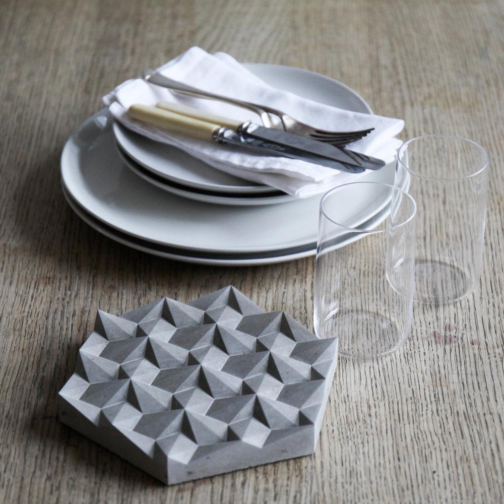Origami Concrete Trivet