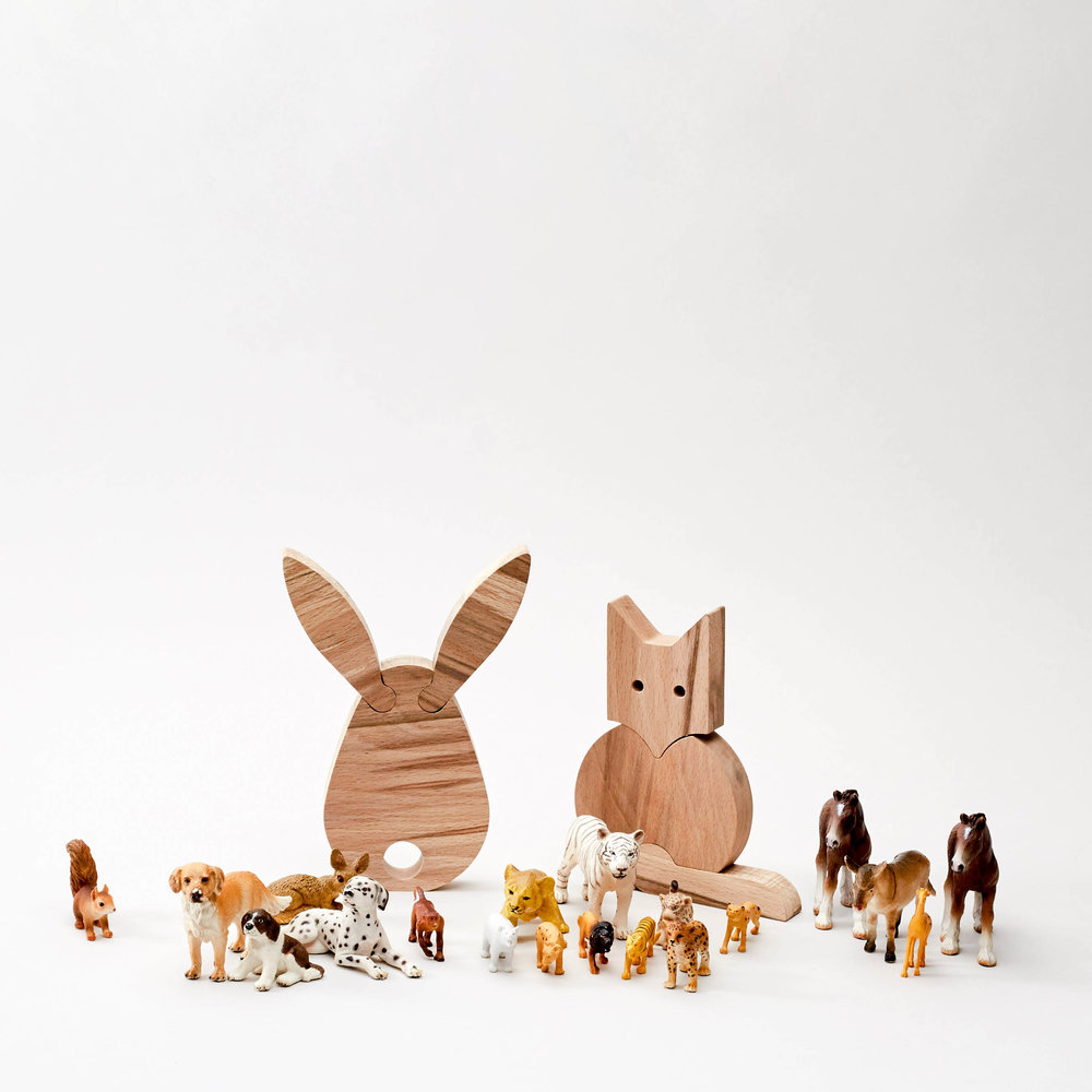 Fox & Rabbit  are part of the Saturday Workshop menagerie.