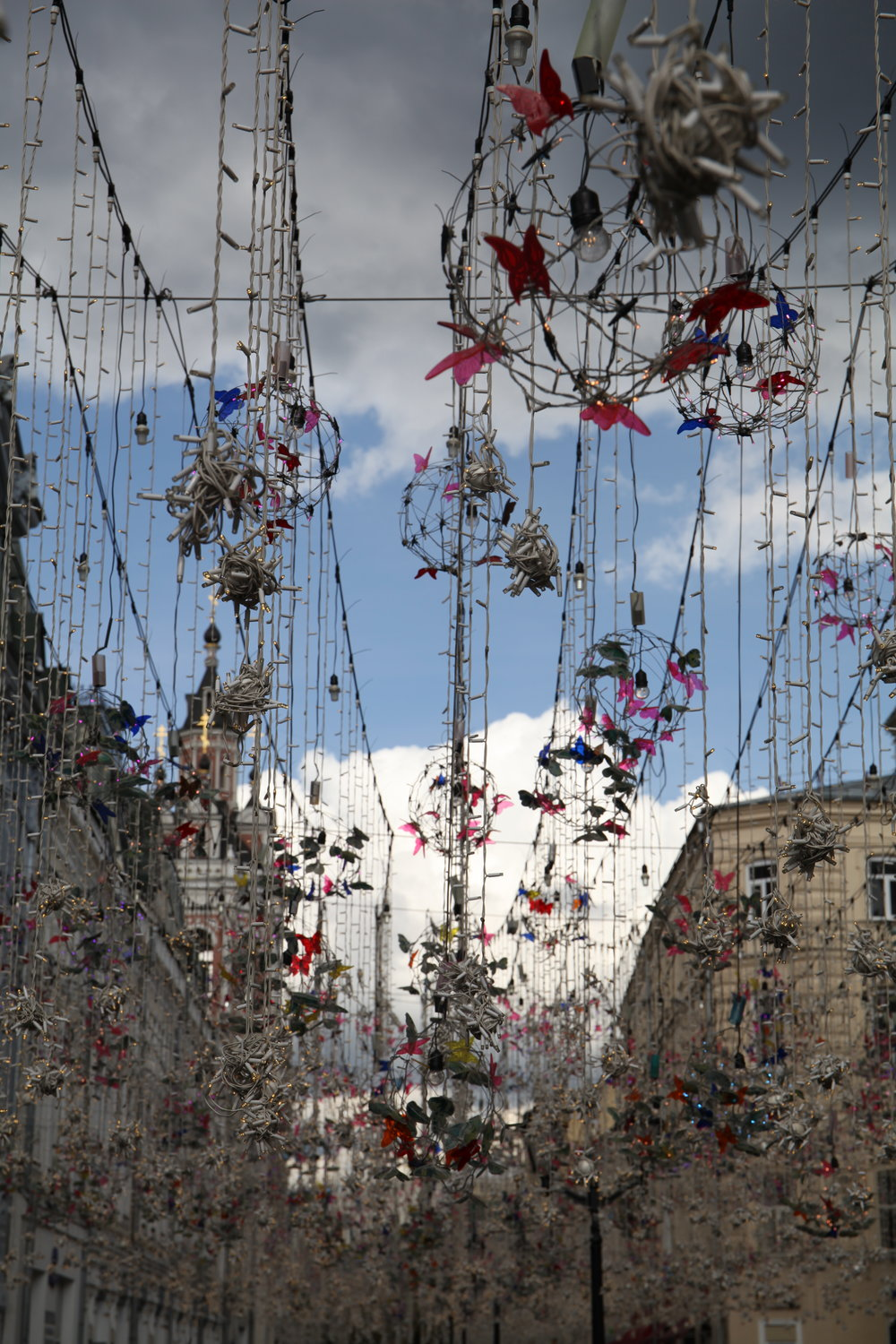 Fairy lights and plastic butterflies, Moscow