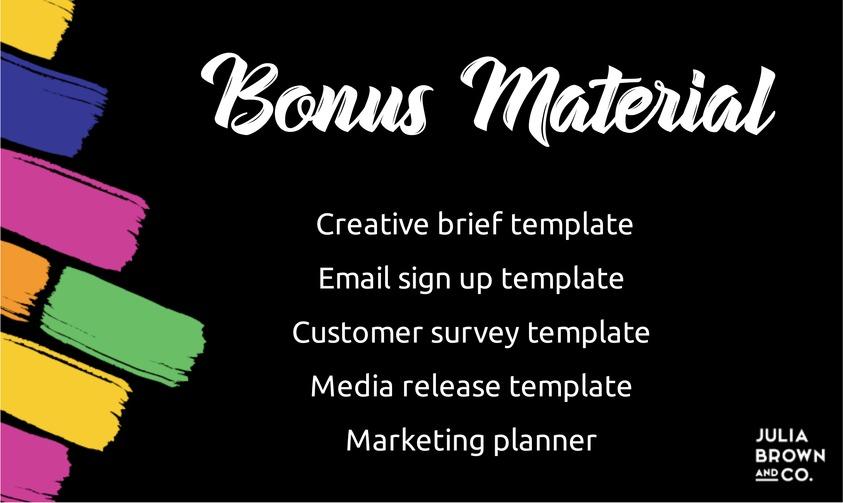 Bonus material Markets to More