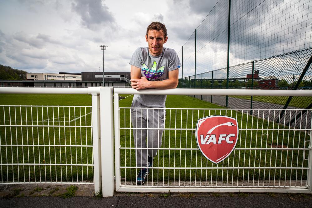 David Ducourtioux,joueur de footballprofessionnel, ancien arrière latéral droitau VAFC (Valenciennes)
