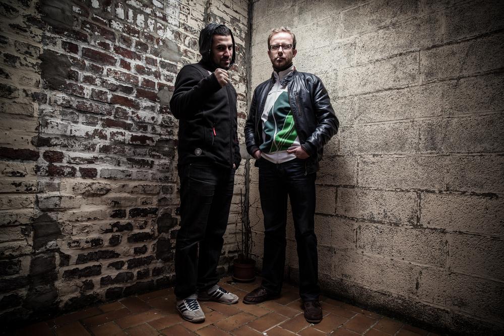 """Deux MC du groupe de rap lillois """"La Jonction"""""""