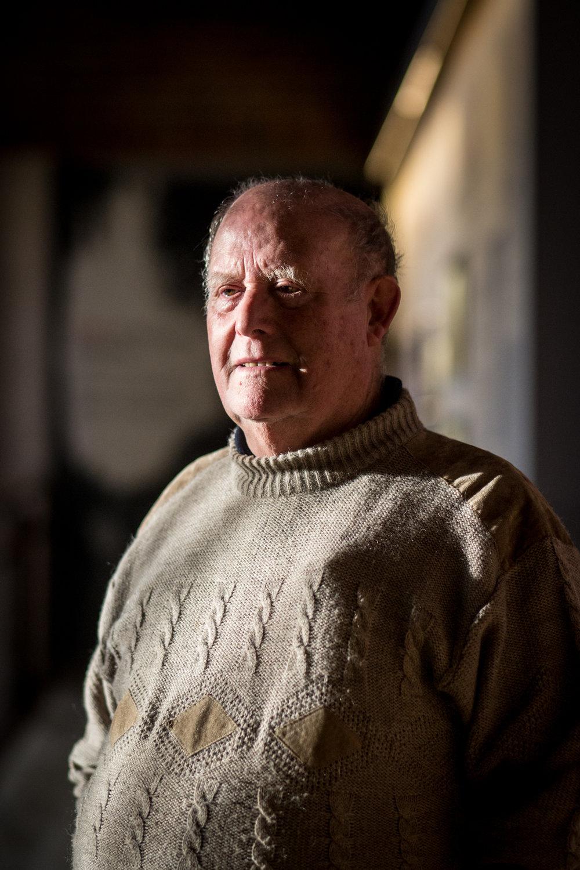 Edmond Delattre, retraité et passionné par la guerre 14-18. Portrait réalisé en commande pour le magazine Ebdo. Nov. 2017 - Bullecourt (62)