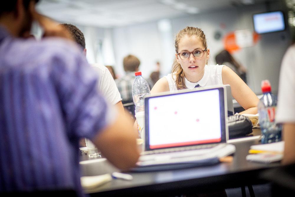 Exercices de création d'entreprises pour les étudiants de l'EDHEC Business School à Croix - 2016