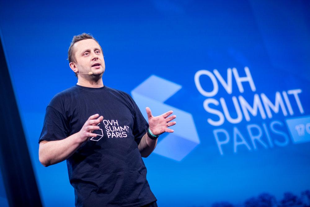 Octave Klaba, CEO d'OVH lors de l'OVH Summit à Paris - 2017