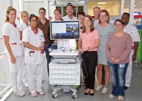 Het projectteam en enkele verpleegkundigen van de afdeling Cardiologie